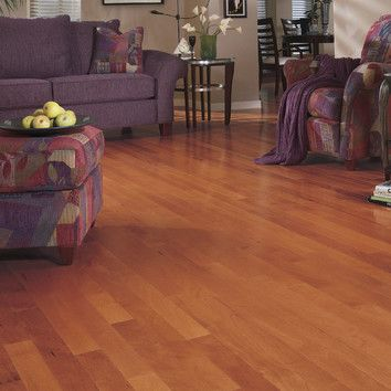 These warm-toned hardwood floors are made of Brazilian hickory.