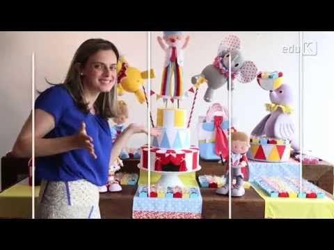 Curso online de Festa em feltro: a magia do circo.
