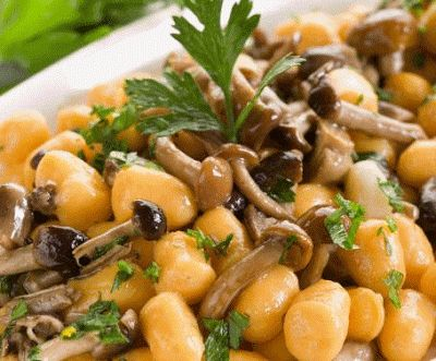 La Cucina degli Avanzi: Gnocchi di zucca ai funghi