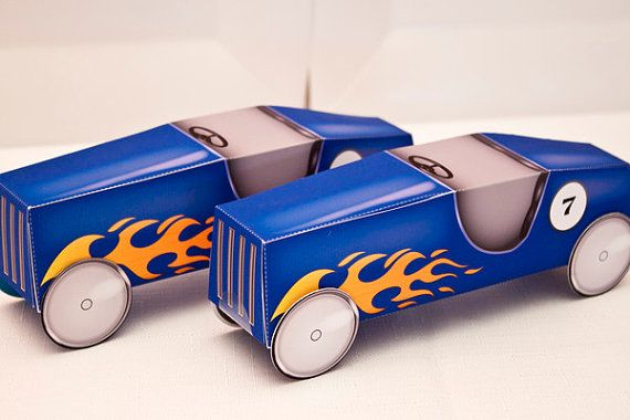 SOAP BOX Car Favor Box  DIY Printable by piggybankparties on Etsy, $9.00