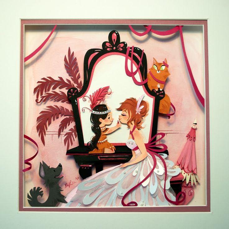 Peck'n'paw and the Black Mirror / Cuccioli e specchio con bordo nero - Illust: #BritneyLee