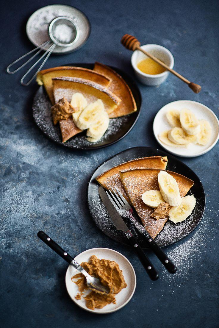 """picante-jalapeno.blogspot.com: Pieczony naleśnik """"dutch baby"""" z bananem i masłem orzechowym"""
