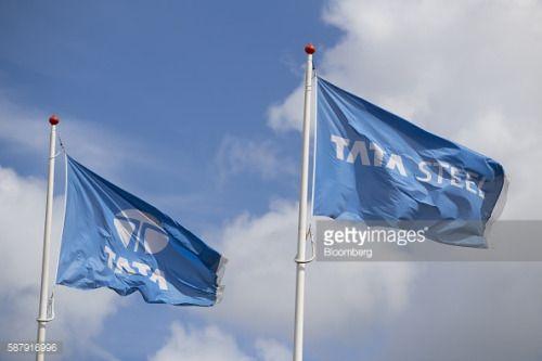 The Tata Steel Ltd. logo sits on a flags flying outside the Tata... #sandvikno: The Tata Steel Ltd. logo sits on a flags flying… #sandvikno