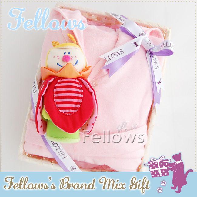 【楽天市場】fellowsのブランドMixギフトHABAトリクシー&バンブーバスローブ【Pink】のセット【あす楽対応】【出産祝い】女の子【お誕生日】1歳:女【お誕生日】2歳:女10P26Mar16:Fellows(出産祝い&輸入雑貨)