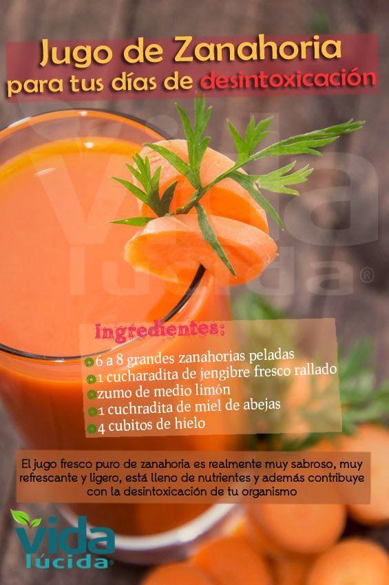 Verde y Natural: Jugo de zanahoria para desintoxicación