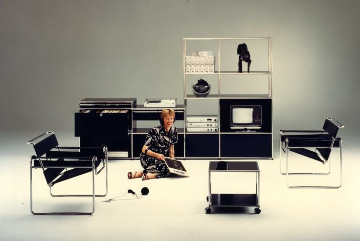USM Modular Furniture fotografierte 1982.