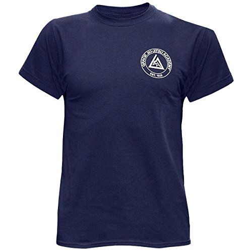 The official Gracie Academy t-shirtSmall academy circle logo on left side of chestLarge academy circle logo in center of back100% cottonSilk screen designs...