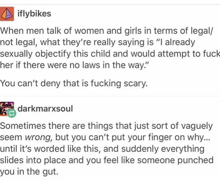 """If your only defense for justifying why you sexualize someone is that they're """"legal"""" then you're gross and need to re-examine your values as a person."""