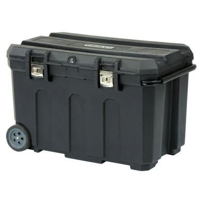 "Stanley Rolling Tool Box - only $60 at Home Depot - even has a removable ""grooming tray"" - i need this for a tack trunk!!"