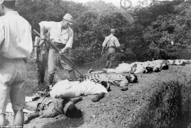 In the final haunting image, the prisoners are seen dead on the ground while the Japanese troops impale their corpses with a bayonet. The pictures were found among Japanese records when Allied troops entered Singapore in 1945 and returned it to British rule. During the war, Japan captured nearly 140,000 Allied military personnel from Australia, Canada, Great Britain, India, Netherlands, New Zealand, and the United States