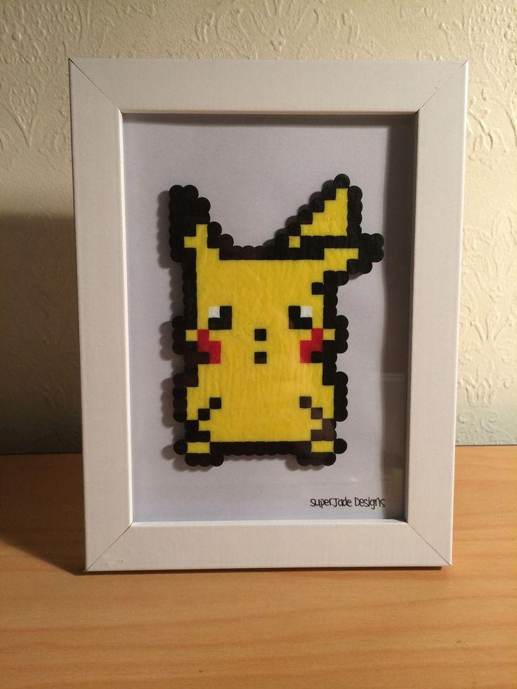 Pikachu - Framed. via SuperJade Designs. Click on the image to see more!