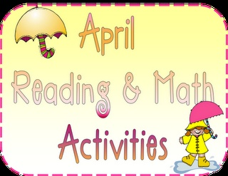 reading and math activities...spring themed