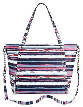 Merona Sam & Libby Stripe Weekender Bag - Blue/Pink  To pair with all your navy clothing items.