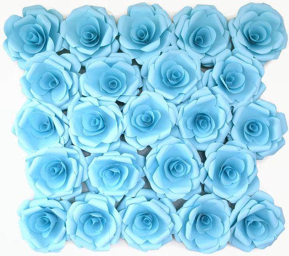 Light Powder Blue  Wedding Decor Paper Rose by RJohnsDesigns