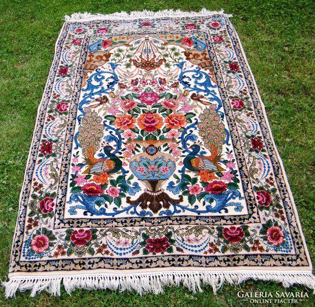 RITKA ISFAHAN Kézi csomózású iráni perzsa szőnyeg, 111 x 172