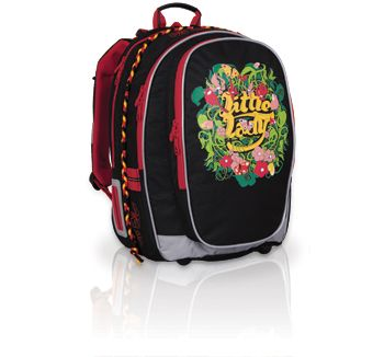 Plecak szkolny od 3 do 5 klasy. Ciemny plecak nie musi być smutny- Topgal zadbał o kolorowe elementy, które pobudzają oko.