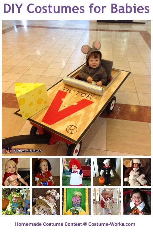 Homemade Costumes for Babies - a lot of DIY costume ideas!  Don't care for some but others are really cute and would be simple to make. check them out... anita