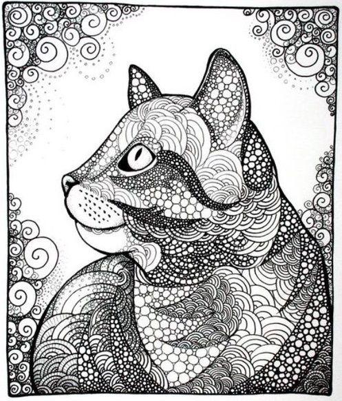 Paper Art Cat colors Cat art