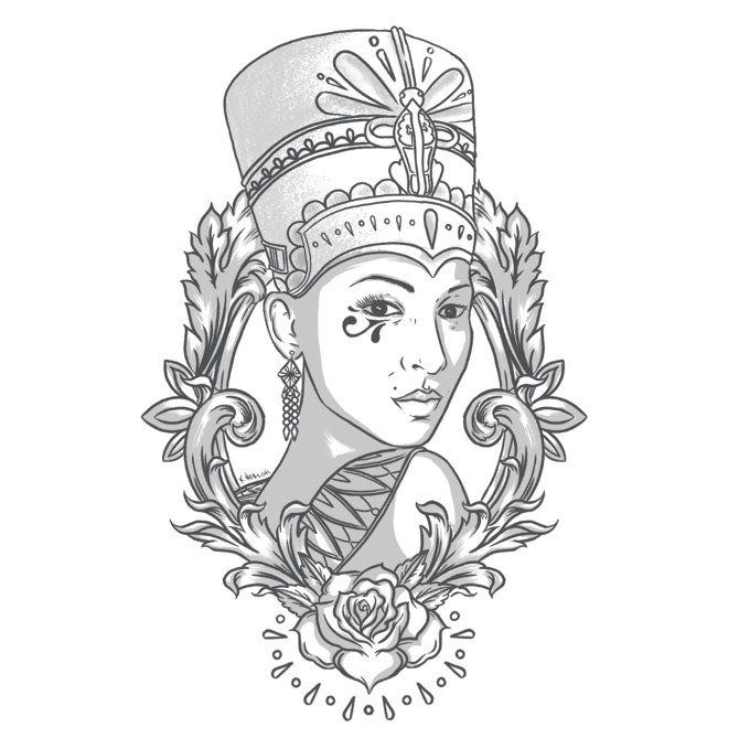 Best 25 Nefertiti Tattoo Ideas On Pinterest Egyptian Tattoo Queen And Drawings