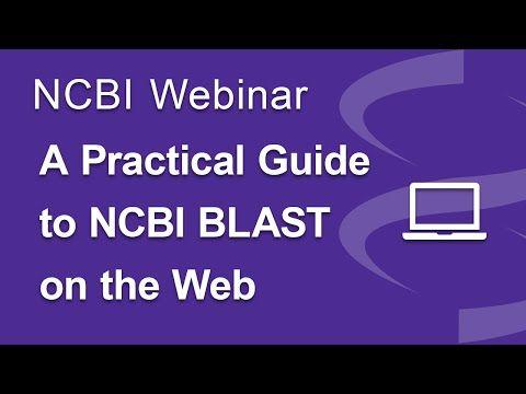 Webinar: A Practical Guide to NCBI BLAST on the Web - YouTube