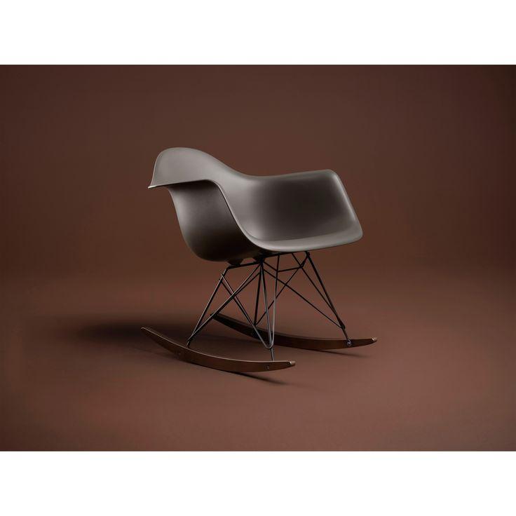 Eames Rocking Chair RAR gungstol, grå, Special edition i gruppen Möbler / Stolar & Pallar / Stolar hos RUM21.se (123534)