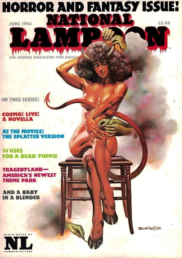National Lampoon Magazine / cover June 1986 (Boris Vallejo)