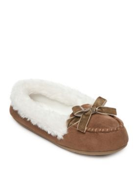 Jessica Simpson Women's Moccasin Slippers - Cinnamon - Xl