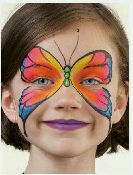 Kelebek yuz boyama