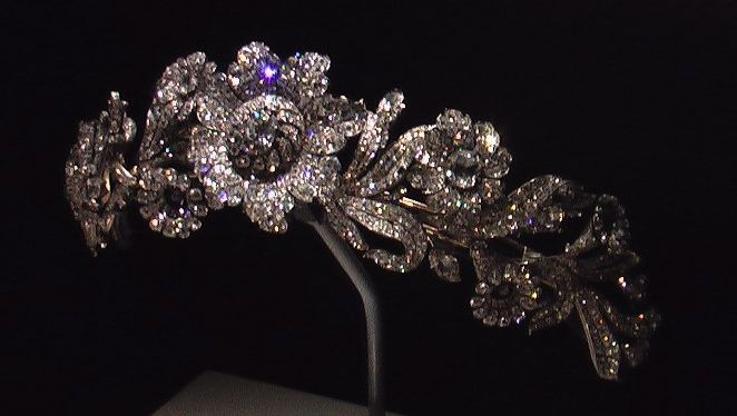 House of Savoy Tiara, Italy (ca. 1840; diamonds). Later bought by Marjorie Merriweather Post. Now in the Smithsonian Museum.