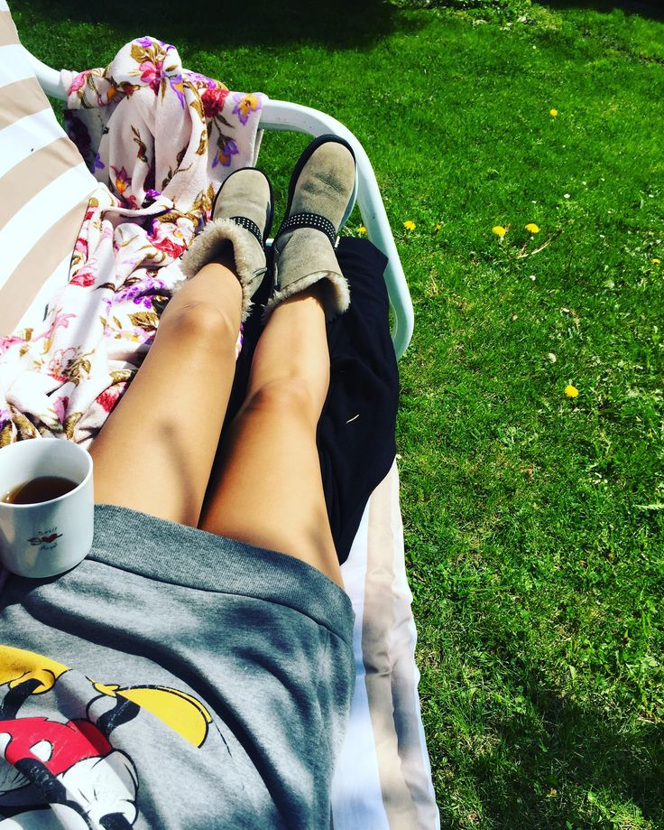 Perfect #sunday #mornings!  #ugg #mickeymouse #tea #springdays