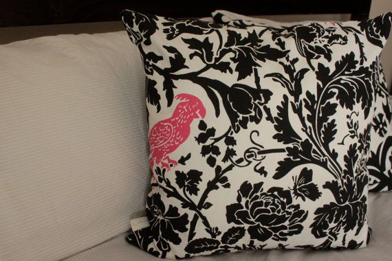SALE Pink Polly Cushion/Pillow Cover 18 46 cm by LukaMish on Etsy