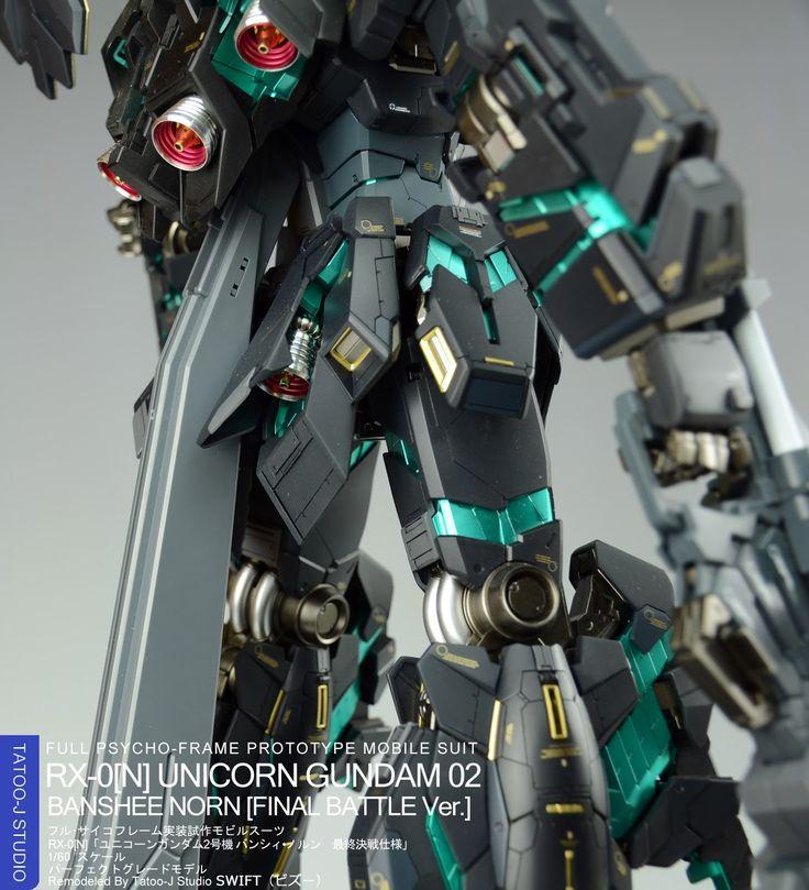 GUNDAM GUY: PG 1/60 Unicorn Gundam 02 Banshee Final Battle Ver. - Painted Build