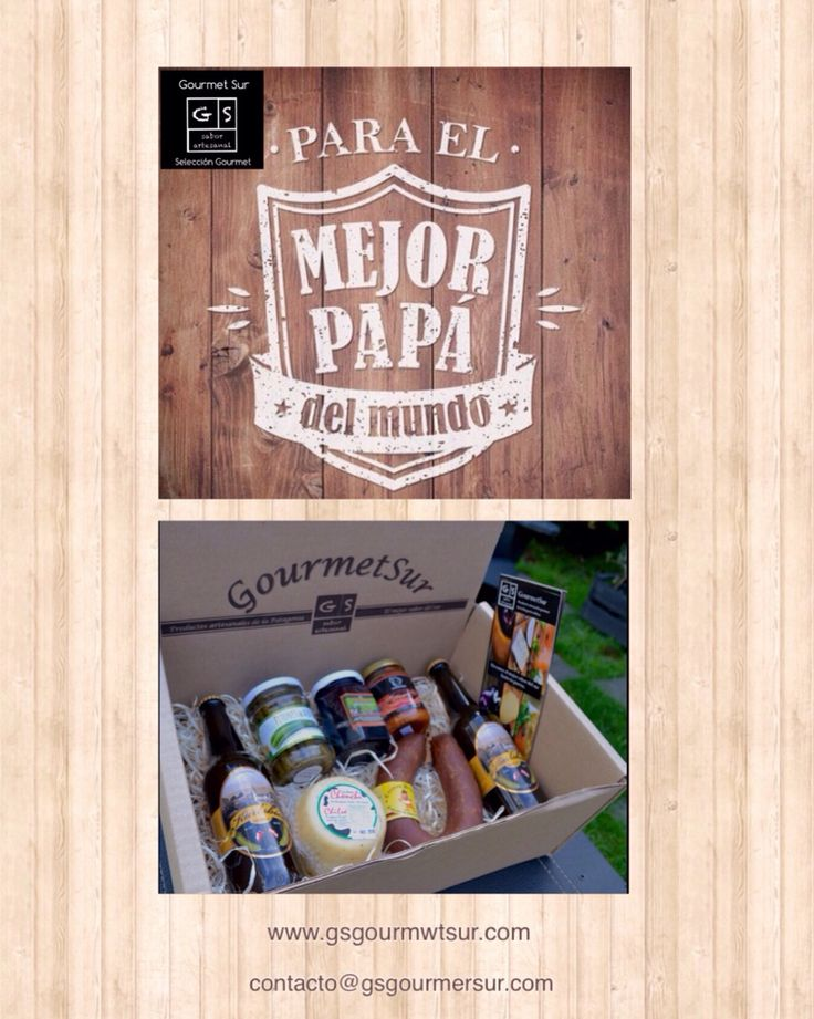 Un regalo premium para un Papá gourmet. Pide tu Caja Gourmet Sur Dia del Papá en: www.gsgourmetsur.com contacto@gsgourmetsur.com                            Gourmet Sur, Selección  de productos gourmet del sur de Chile.