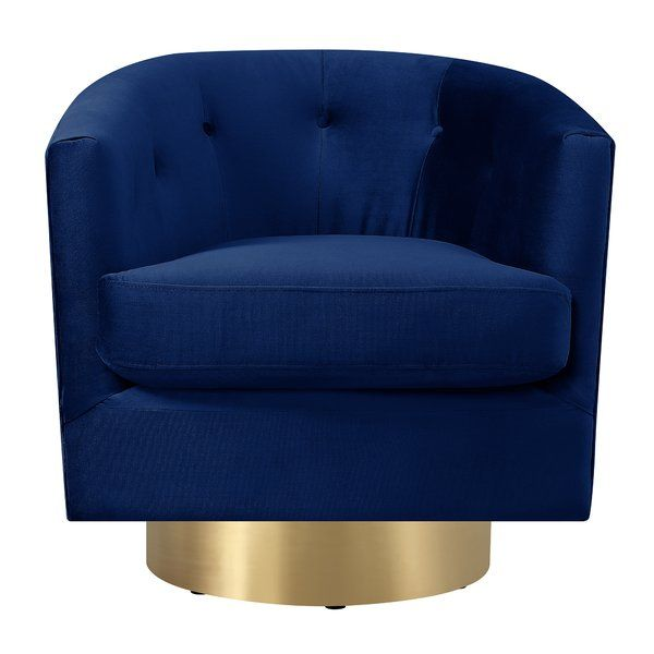 This Huang Swivel Barrel Is The Ultimate Chic Swivel Accent Chair