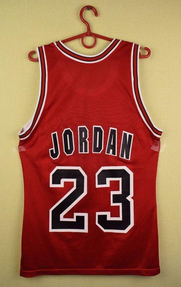 outlet store 8d1d9 e59ae Vintage Chicago Bulls jersey #23 Michael Jordan champion NBA ...