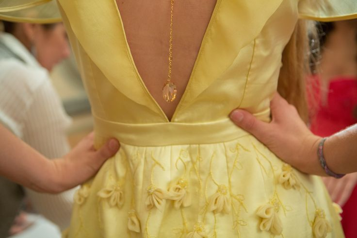 #MartinaCouture #ImagoVeli #Backstage #Yellow #Gowns #Collection SS 2016