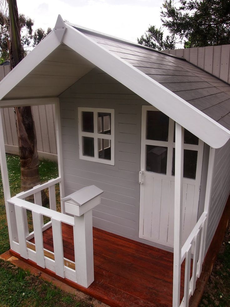 Project Cubby House: The Finished Product - our Havana Cubby House from Tuff Cubbies!