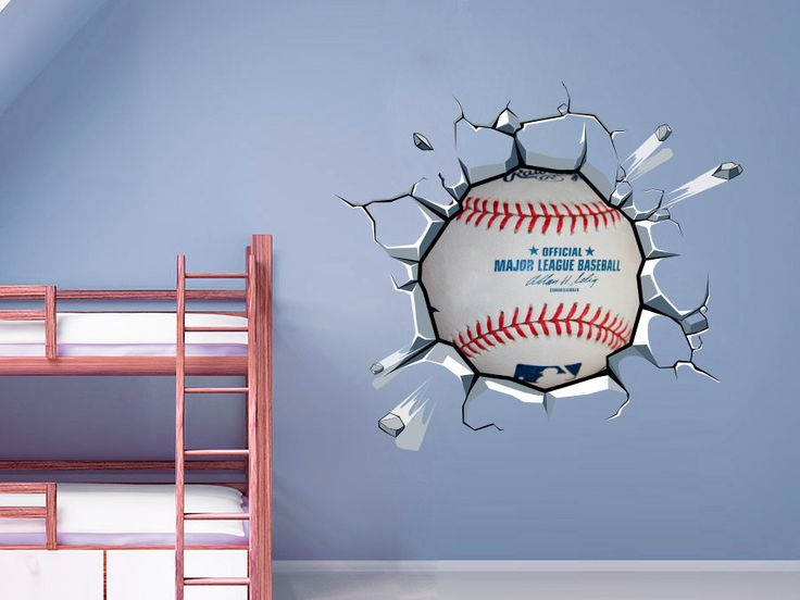 Baseball Breaking Wall Stickers In Any Flat Surface If You Are Looking For A Piece Of Art Is The Perfect Choice