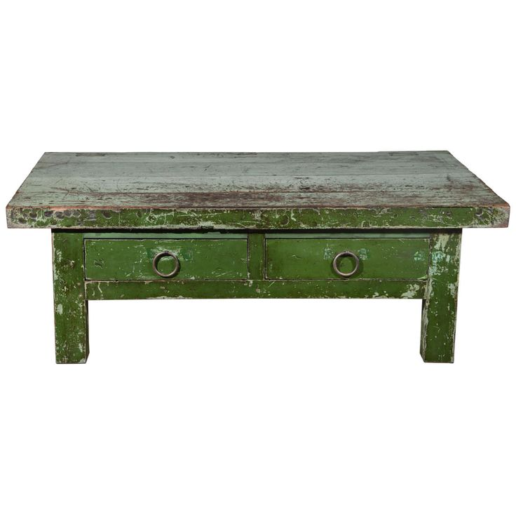 Wabi Sabi Green Coffee Table | From a unique collection of antique and modern coffee and cocktail tables at https://www.1stdibs.com/furniture/tables/coffee-tables-cocktail-tables/