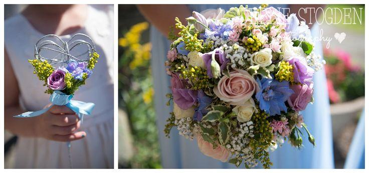 Bridesmaid #wedding #bouquet flower girl #fairywand by The Countryside Florist, Skelton