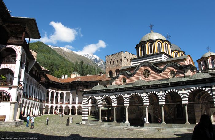 Rila Monastery, UNESCO World Heritage Site in Bulgaria.