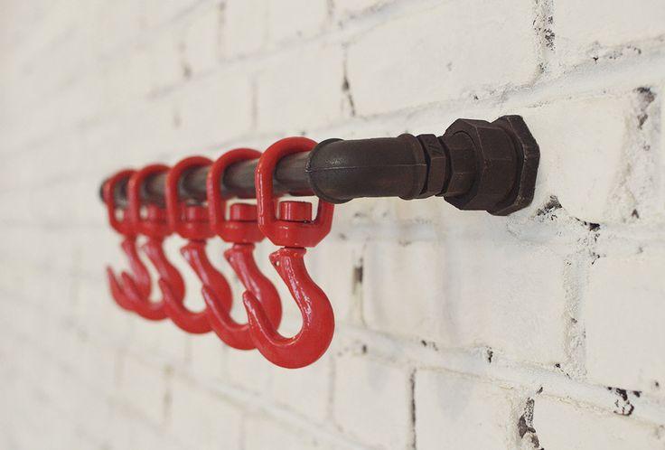 Дизанейрская вешалка для прихожей в стиле лофт