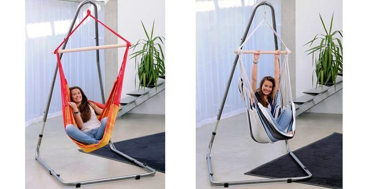 Soporte silla hamaca Luna RockStone, soportes de hamacas, soportes de acero para sillas hamacas
