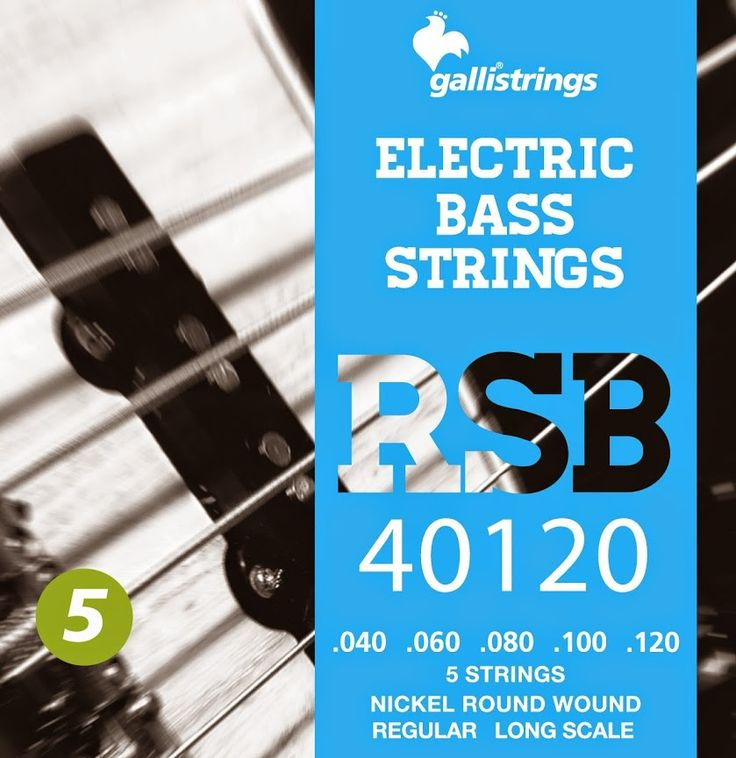 RSB 40120 5 strings nickel round wound regular .040 -.060 -.080 -.100-.120 RSB A nickel wrapped hexagonal core with a rough surface for those looking for a sparkling timbre, with a metallic sound, and long lasting. Gallistrings delivers the freshest strings stright from our facility to your instrument!