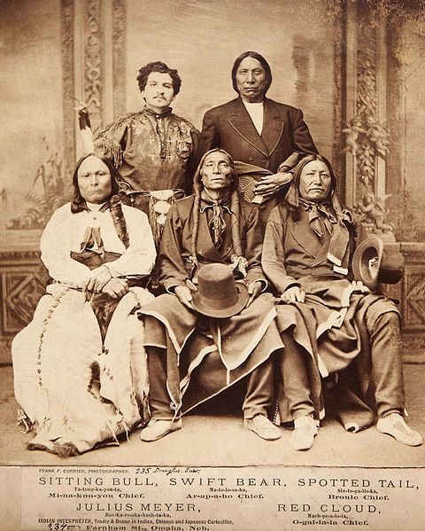 "The chief of the ""black mountains"" in the negotiations on the photograph in 1875. Then, the Lakota, and Sioux tribes, Cheyenne covenant, and Sitting Bull and Crazy Horse led armed resistance began...."