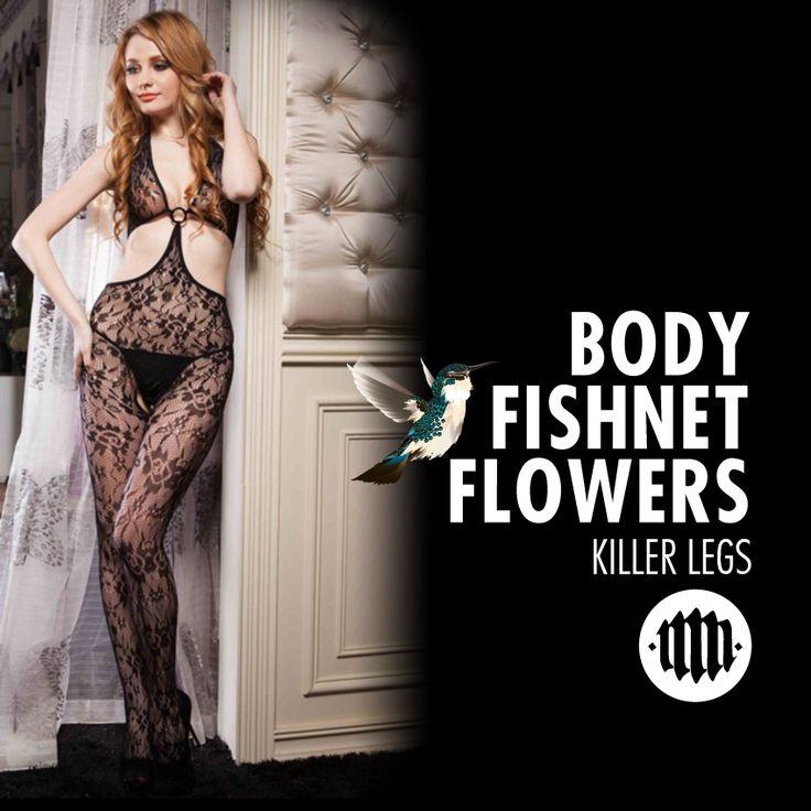 Killer Legs, designed fishnets, lace tights, hosiery, body stocking. Buy: www.muchamuchacha.com.co