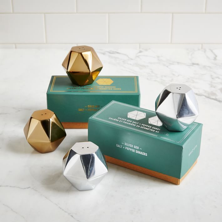 Geo Salt + Pepper Shakers
