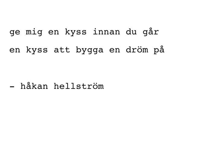 Håkan Hellström - lyrics