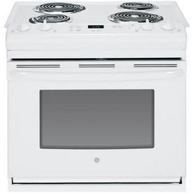 GE 30-in 4.4-cu ft Drop-In Electric Range (White) NOT self cleaning!!!