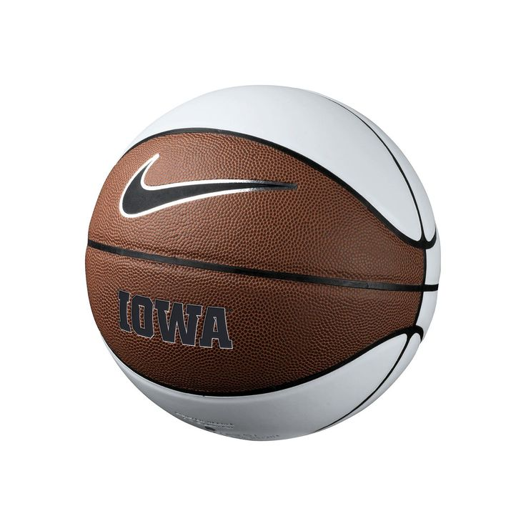 Nike Iowa Hawkeyes Autograph Basketball, White Oth